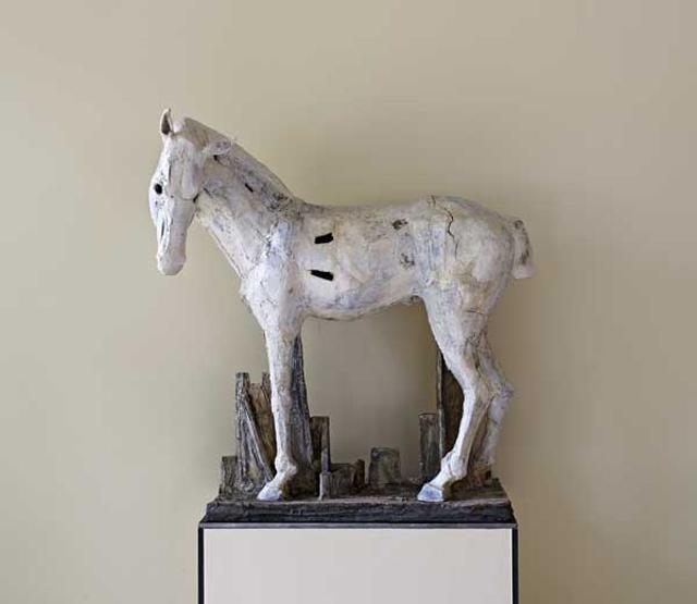 Pferd II zu ludwig dem springer christin mueller keramik